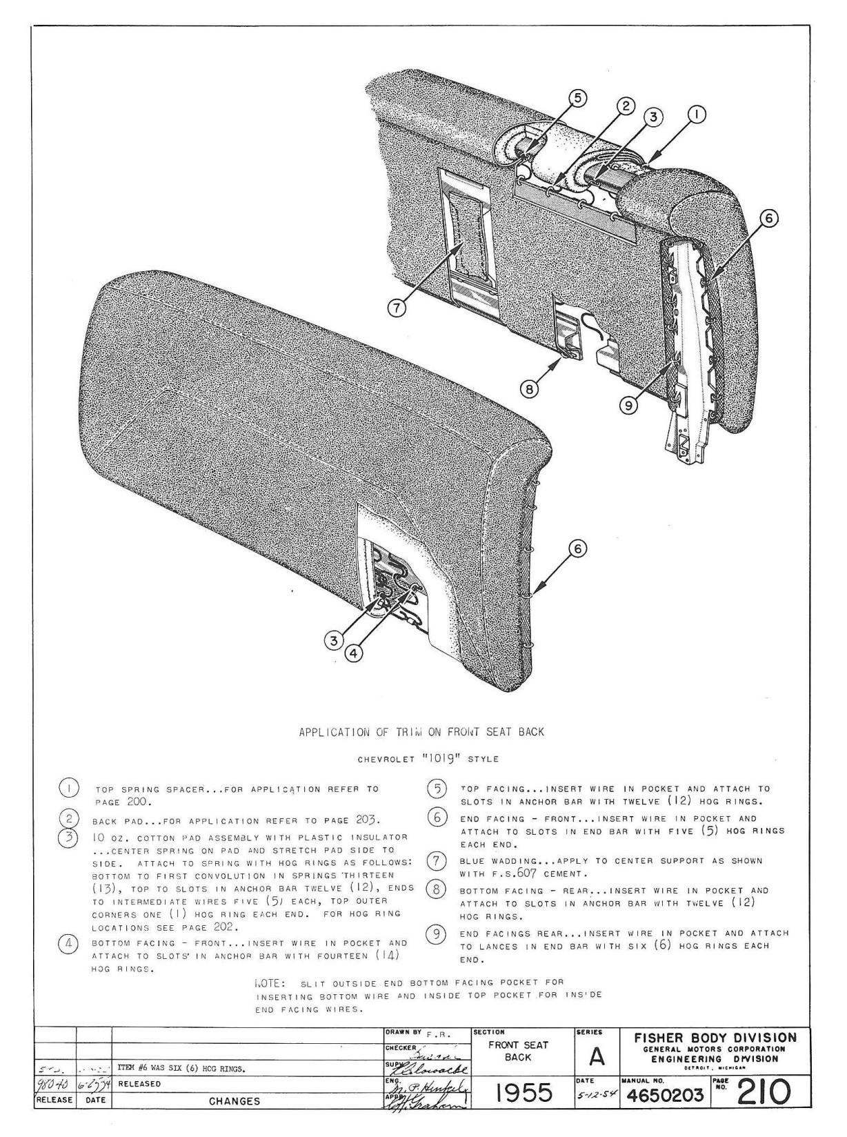 trifivechevys.com: 1955 Chevy Trim Instructions Manual